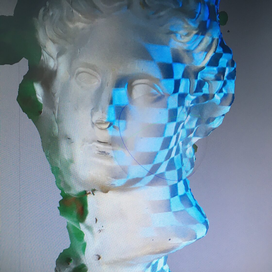 3D scan van klassiek hoofd