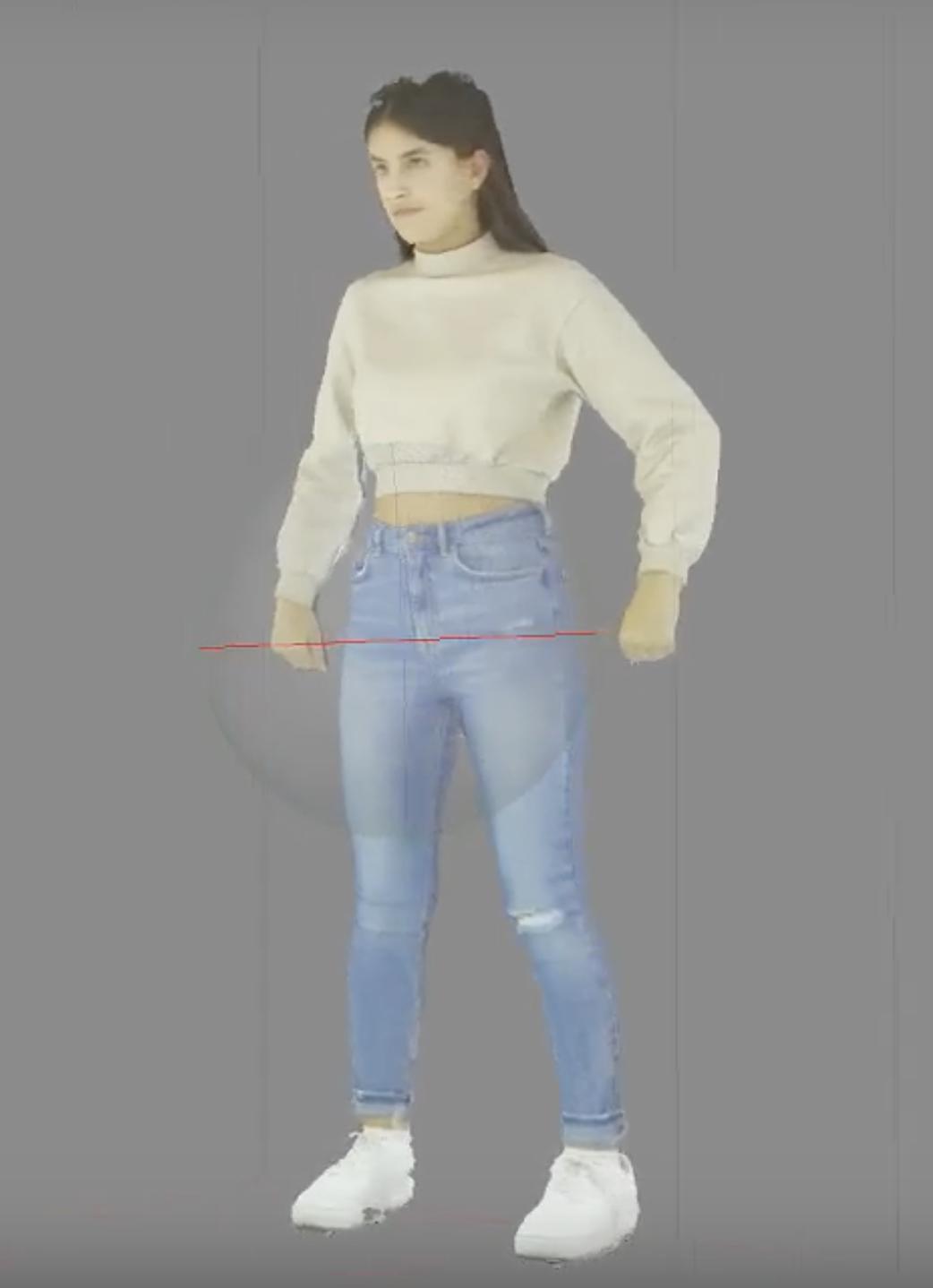 3D scan van danser