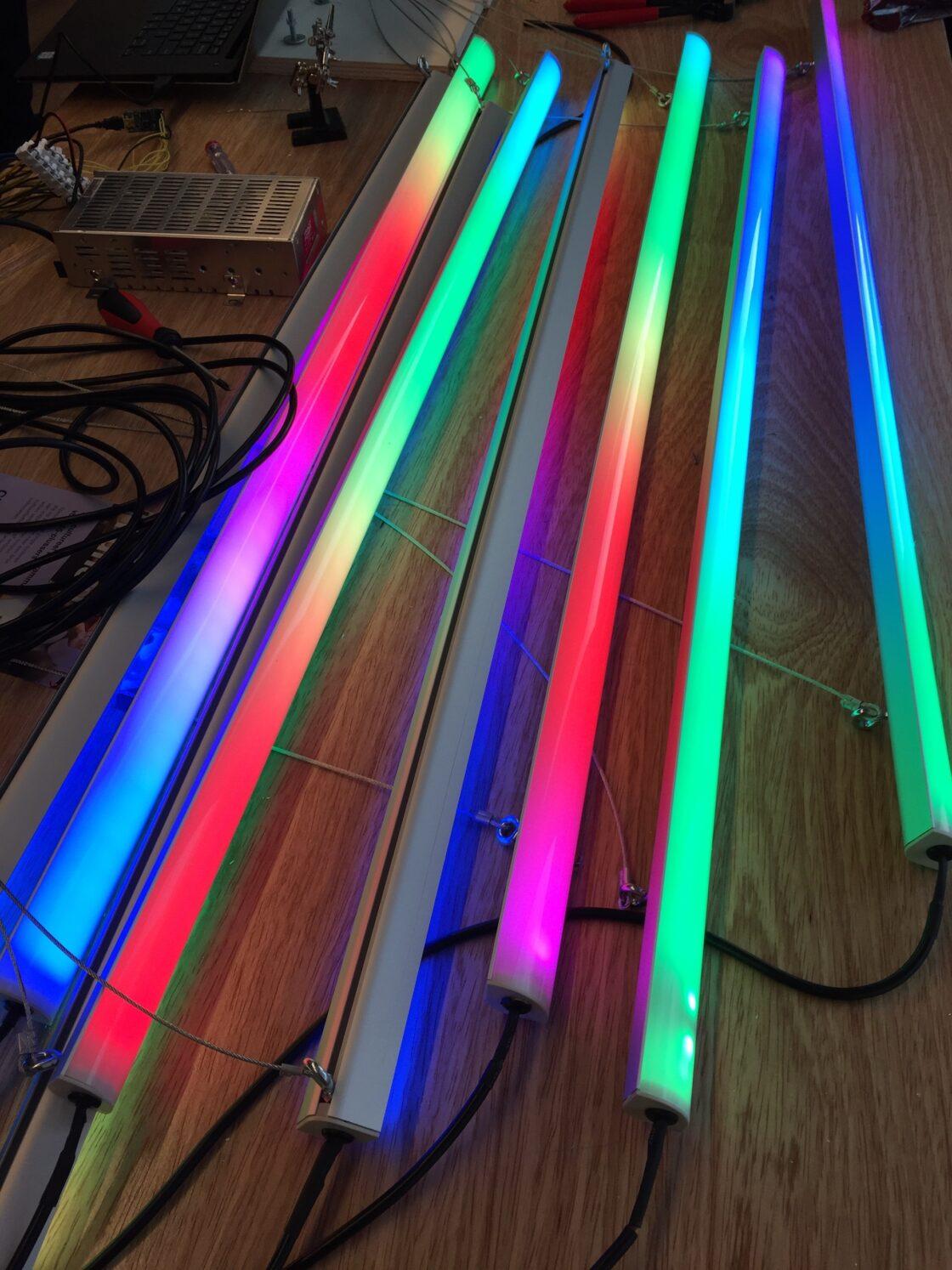 prototype van LED lichtbuizen